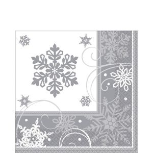 Sparkling Snowflake Lunch Napkins 16ct