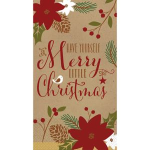 Merry Little Christmas Kraft Guest Towels 36ct