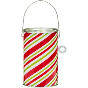 Candy Cane Stripe Paint Can Treat Bucket