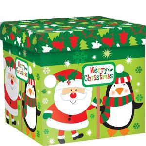 Santa & Penguin Christmas Gift Box