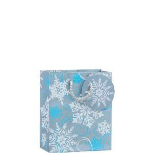Glitter Silver Snowflake Christmas Gift Bag