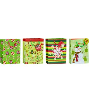 Whimsical Winter Christmas Gift Bags 4ct