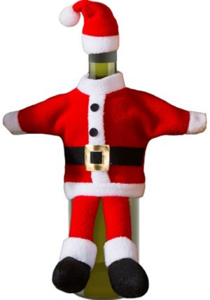 Santa Suit Bottle Cover