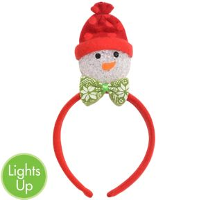 Child Light-Up Red Snowman Headband