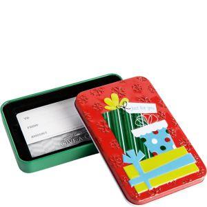 Christmas Presents Gift Card Holder Tin