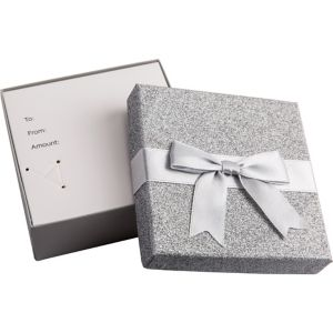 Glitter Silver Gift Card Holder Box