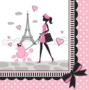 Pink Paris Lunch Napkins 16ct