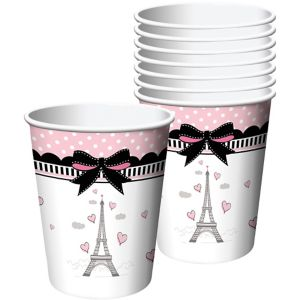 Pink Paris Cups 8ct