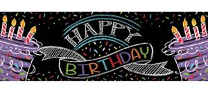 Giant Chalkboard Birthday Banner