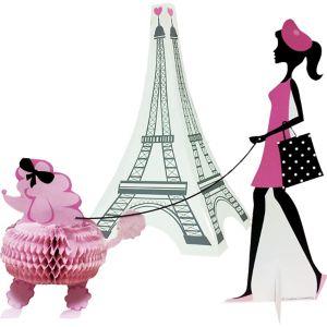 Pink Paris Centerpieces