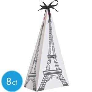 Pink Paris Eiffel Tower Favor Boxes 8ct