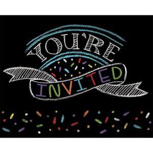 Chalkboard Invitations 8ct