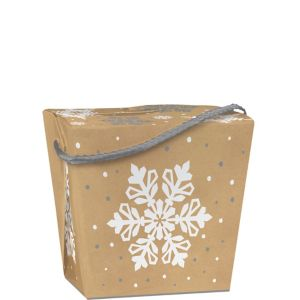 Snowflake Kraft Take-Out Box