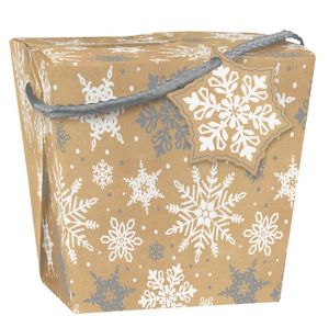 Giant Snowflake Kraft Take-Out Box