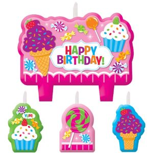 Candy Shoppe Birthday Candles 4ct