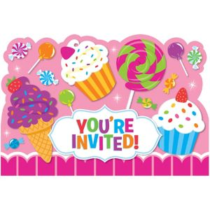 Candy Shoppe Invitations 8ct