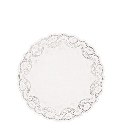 White Round Doilies 16ct