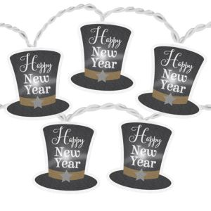 Happy New Year Top Hat LED String Lights