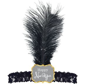 Sequin Happy New Year Flapper Headband
