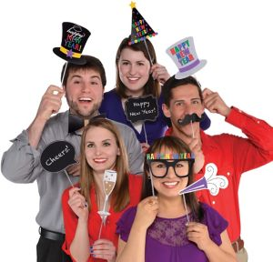 Happy New Year Photo Booth Props 13pc