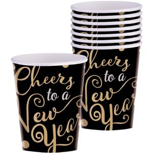 Cheers to a New Year Cups 16ct - Bubbly Celebration