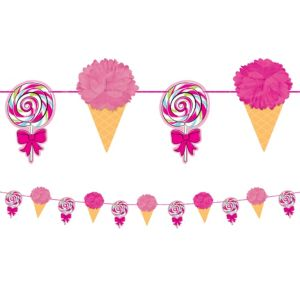 Birthday Sweets Fluffy Garland Deluxe
