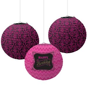 Fabulous Birthday Paper Lanterns 3ct