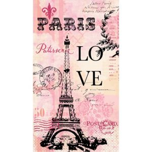 Paris Love Guest Towels 16ct