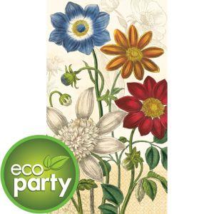 Eco-Friendly Vintage Garden Guest Towels 16ct