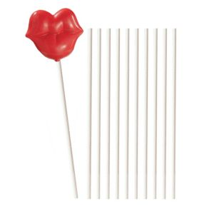 White Lollipop Sticks 25ct