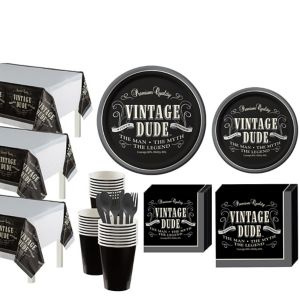 Vintage Dude Birthday Party Kit