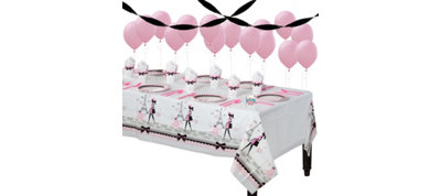 Pink Paris Party Supplies Basic Party Kit