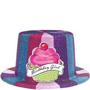 Glitter Birthday Sweets Top Hat
