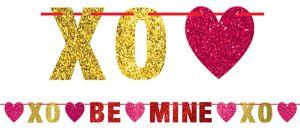 Glitter Be Mine Letter Banner
