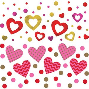 Hugs & Kisses Heart Confetti