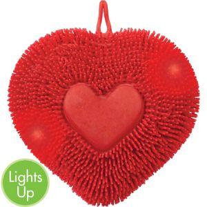 Light-Up Heart Puffer Ball