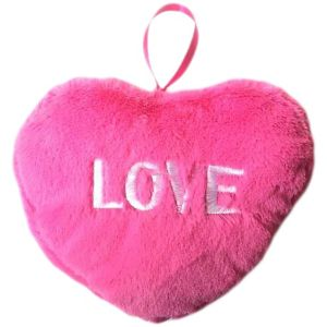 Bright Pink Love Plush Conversation Heart