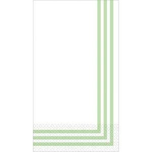 Spring Green Classic Stripe Premium Guest Towels 16ct
