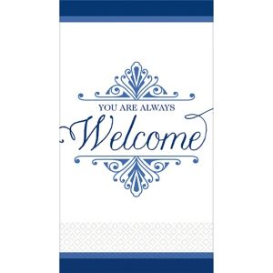Royal Blue Welcome Premium Guest Towels 16ct
