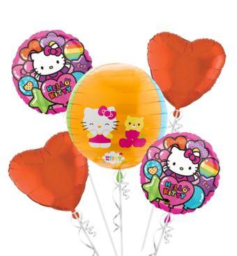 Hello Kitty Balloon Bouquet 5pc - Orbz