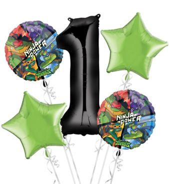 Teenage Mutant Ninja Turtles 1st Birthday Balloon Bouquet 5pc