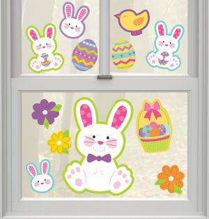 Easter Bunny Cling Decals 20ct