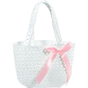 White Woven Easter Basket Purse