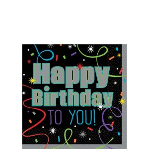 Brilliant Birthday Beverage Napkins 16ct