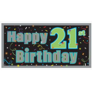 Brilliant 21st Birthday Banner