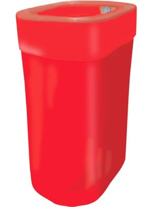Red Pop-Up Trash Bin