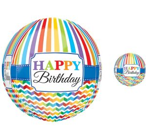 Happy Birthday Balloon - Orbz Bright Chevron