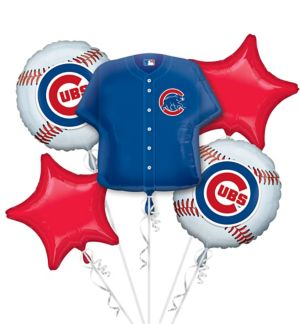 Chicago Cubs Balloon Bouquet 5pc - Jersey