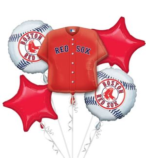 Boston Red Sox Balloon Bouquet 5pc - Jersey