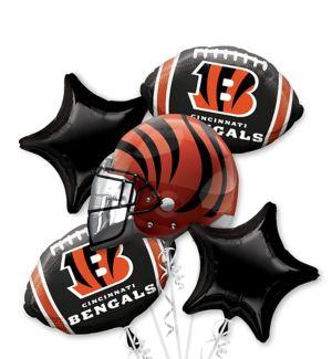 Cincinnati Bengals Balloon Bouquet 5pc